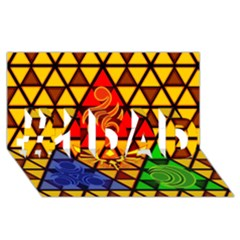 The Triforce Stained Glass #1 DAD 3D Greeting Card (8x4)
