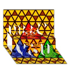 The Triforce Stained Glass Miss You 3D Greeting Card (7x5)