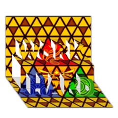 The Triforce Stained Glass Work Hard 3d Greeting Card (7x5)