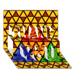 The Triforce Stained Glass Thank You 3d Greeting Card (7x5)