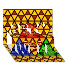 The Triforce Stained Glass Get Well 3d Greeting Card (7x5)