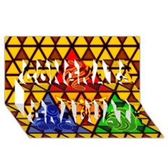 The Triforce Stained Glass Congrats Graduate 3d Greeting Card (8x4)