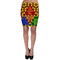The Triforce Stained Glass Bodycon Skirt