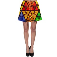 The Triforce Stained Glass Skater Skirt