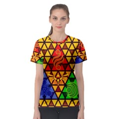 The Triforce Stained Glass Women s Sport Mesh Tee
