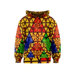 The Triforce Stained Glass Kids  Zipper Hoodie