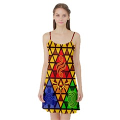 The Triforce Stained Glass Satin Night Slip