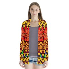 The Triforce Stained Glass Drape Collar Cardigan