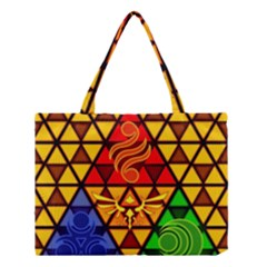 The Triforce Stained Glass Medium Tote Bag