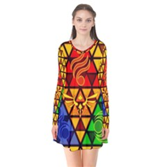 The Triforce Stained Glass Flare Dress