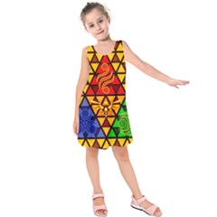 The Triforce Stained Glass Kids  Sleeveless Dress