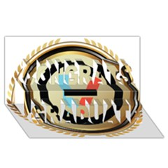 Twenty One Pilots Shield Congrats Graduate 3d Greeting Card (8x4)