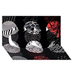 Twenty One Pilots Stressed Out Twin Hearts 3d Greeting Card (8x4)