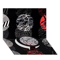 Twenty One Pilots Stressed Out Circle Bottom 3d Greeting Card (7x5)