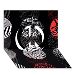 Twenty One Pilots Stressed Out Peace Sign 3D Greeting Card (7x5)