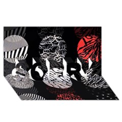 Twenty One Pilots Stressed Out SORRY 3D Greeting Card (8x4)