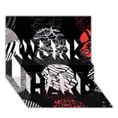 Twenty One Pilots Stressed Out Work Hard 3d Greeting Card (7x5)