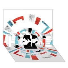 Twenty One Pilots Hope 3d Greeting Card (7x5)