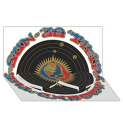 The Grateful Dead Twin Heart Bottom 3d Greeting Card (8x4)