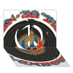 The Grateful Dead Peace Sign 3d Greeting Card (7x5)