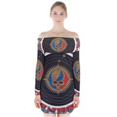 The Grateful Dead Long Sleeve Off Shoulder Dress