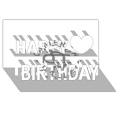 Cameron Dallas Happy Birthday 3D Greeting Card (8x4)