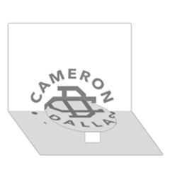 Cameron Dallas Circle Bottom 3d Greeting Card (7x5)