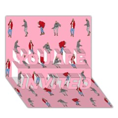Hotline Bling Pattern You Are Invited 3d Greeting Card (7x5)