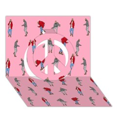 Hotline Bling Pattern Peace Sign 3d Greeting Card (7x5)