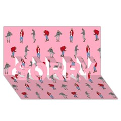 Hotline Bling Pattern Sorry 3d Greeting Card (8x4)