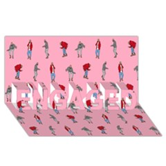 Hotline Bling Pattern Engaged 3d Greeting Card (8x4)