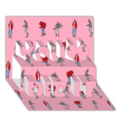 Hotline Bling Pattern You Did It 3d Greeting Card (7x5)