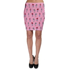 Hotline Bling Pattern Bodycon Skirt