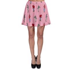 Hotline Bling Pattern Skater Skirt