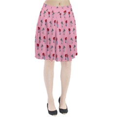 Hotline Bling Pattern Pleated Skirt