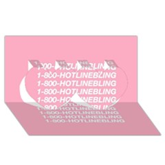 1 800 Hotline Bling Twin Hearts 3d Greeting Card (8x4)