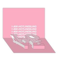 1 800 Hotline Bling LOVE Bottom 3D Greeting Card (7x5)