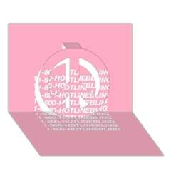 1 800 Hotline Bling Peace Sign 3d Greeting Card (7x5)