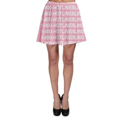 1 800 Hotline Bling Skater Skirt