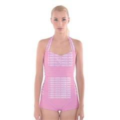 1 800 Hotline Bling Boyleg Halter Swimsuit