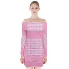 1 800 Hotline Bling Long Sleeve Off Shoulder Dress