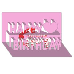Hotline Bling Happy Birthday 3d Greeting Card (8x4)