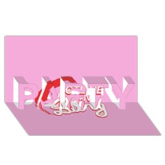 Hotline Bling Party 3d Greeting Card (8x4)