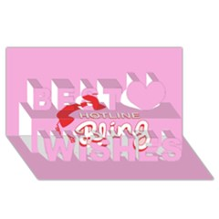 Hotline Bling Best Wish 3D Greeting Card (8x4)