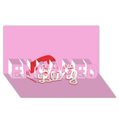 Hotline Bling ENGAGED 3D Greeting Card (8x4)