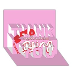 Hotline Bling THANK YOU 3D Greeting Card (7x5)