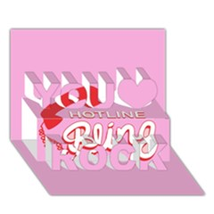 Hotline Bling You Rock 3d Greeting Card (7x5)