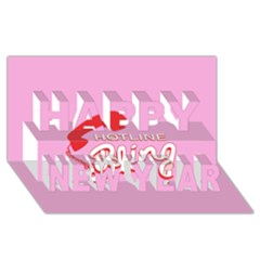Hotline Bling Happy New Year 3d Greeting Card (8x4)
