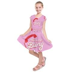 Hotline Bling Kids  Short Sleeve Dress
