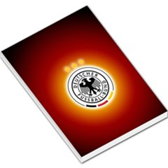 Deutschland Logos Football Not Soccer Germany National Team Nationalmannschaft Large Memo Pads